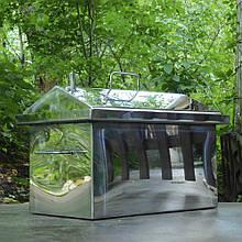 Домашня Коптильня з нержавіючої сталі 2.0 мм з гідрозатворів Кришка будиночком Для риби М'яса Сала