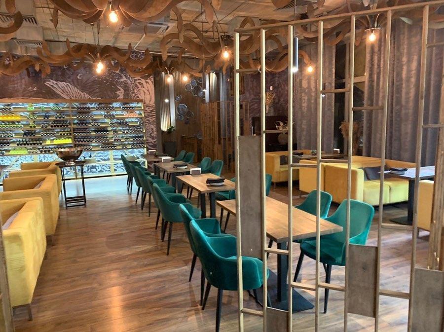 Наша мебель в ресторане Satori restaurant & bar
