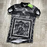 Мужская футболка поло Etro M299 черная