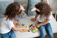 Сортер овощи  20*15 с названиями деревянная яркая рамка вкладыш, развивающие игрушки обучающие