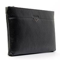 Клатч мужской, чехол для планшета, электронной книги на запястье черный Prada 66235-45