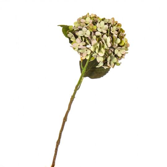 """Цветок искусственный """"Гортензия салатовая"""""""