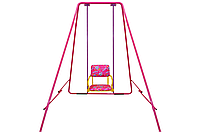 Детские качели разборные, металлические «Take&Ride baby swing», в сумке, 4 цвета Розовый