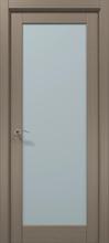 Межкомнатная дверь «Папа Карло» CP-01 (застекленная), сандаловое дерево