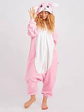 Яскравий кігурумі Рожевий кролик 152 см