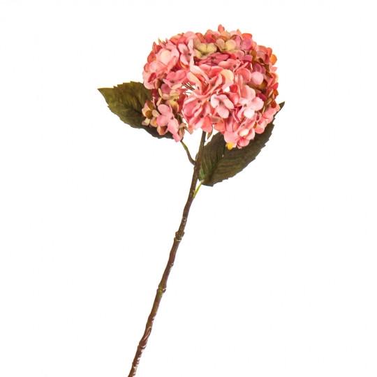 """Цветок искусственный """"Гортензия розовая"""""""