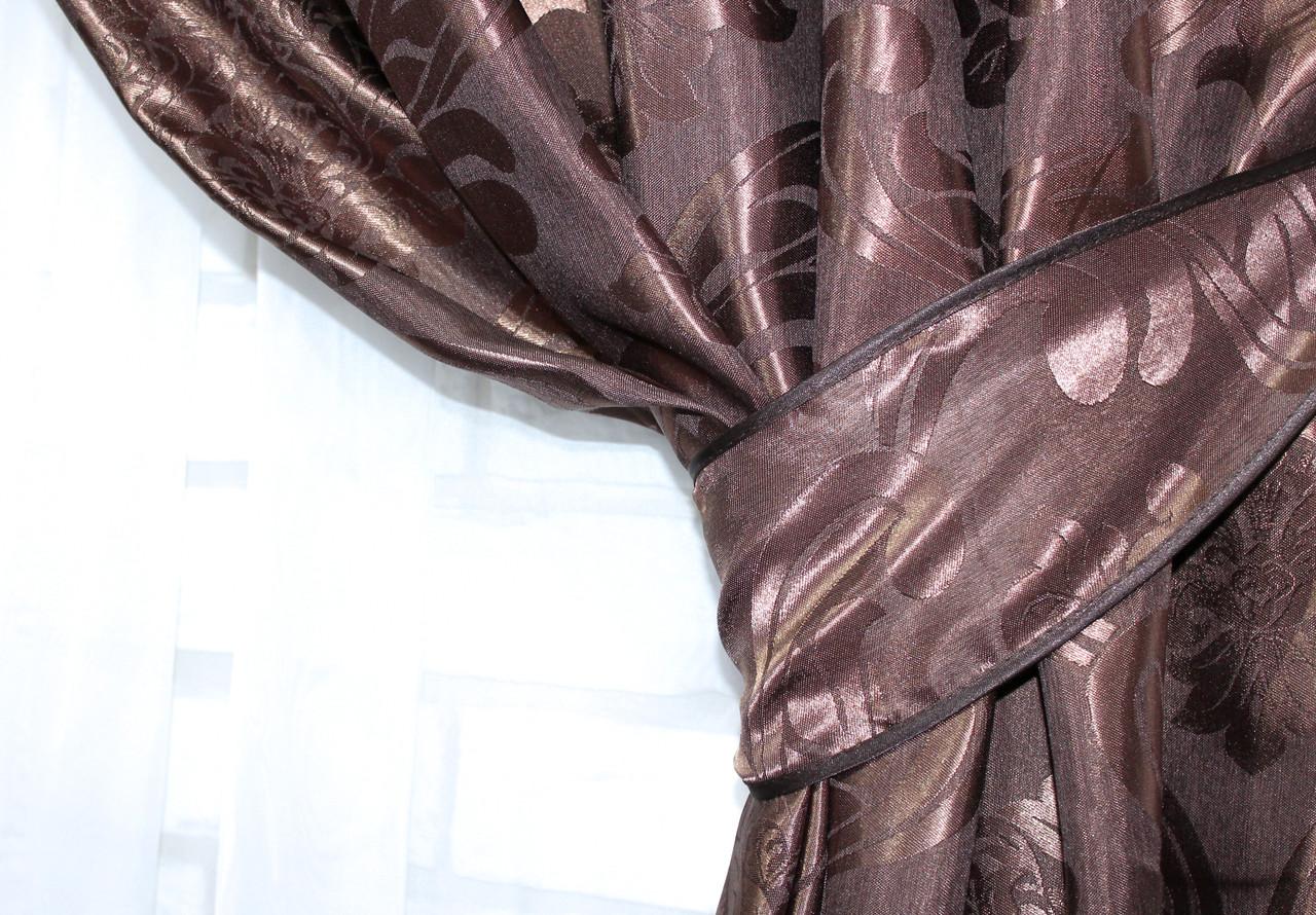 """Плотная ткань жаккард """"Лион"""". Высота 2,8м. Цвет венге. 530ш"""