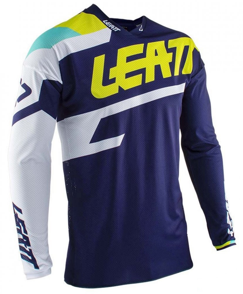 Джерси LEATT JERSEY GPX 4.5 LITE blue white yellow