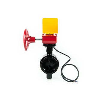 """Грувлочный дисковый затвор с концевым выключателем мод.204  6"""" DN150 (158,8 мм), APSAD"""