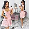 Літнє жіноче плаття з прошвы (4 кольори) ЕФ/-545 - Рожевий