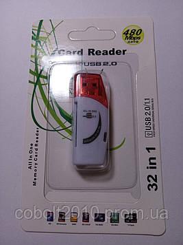 USB кардридер карт-ридер универсальный