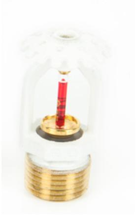 """Спринклер  (розеткой вверх) белый быстрого реагирования (3mm колба) Ду-3/4"""" SSU K=115, 79C"""