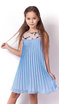 Платье на девочку Плиссе голубое