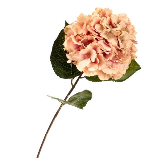 """Цветок искусственный """"Гортензия персиковая"""""""