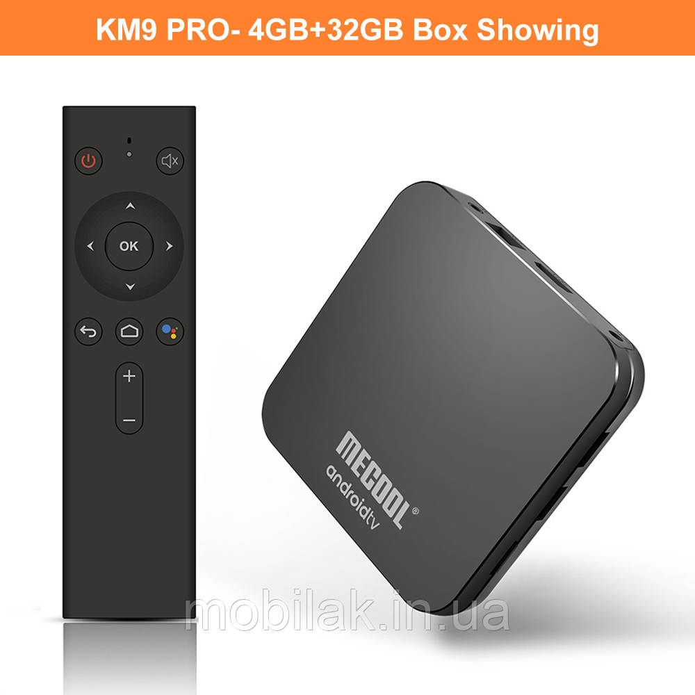 MECOOL KM9 pro Smart tv Box Android 9 4\32 Голосовое управление