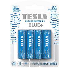 Батарейки TESLA AA BLUE+ (R06) 4 шт.