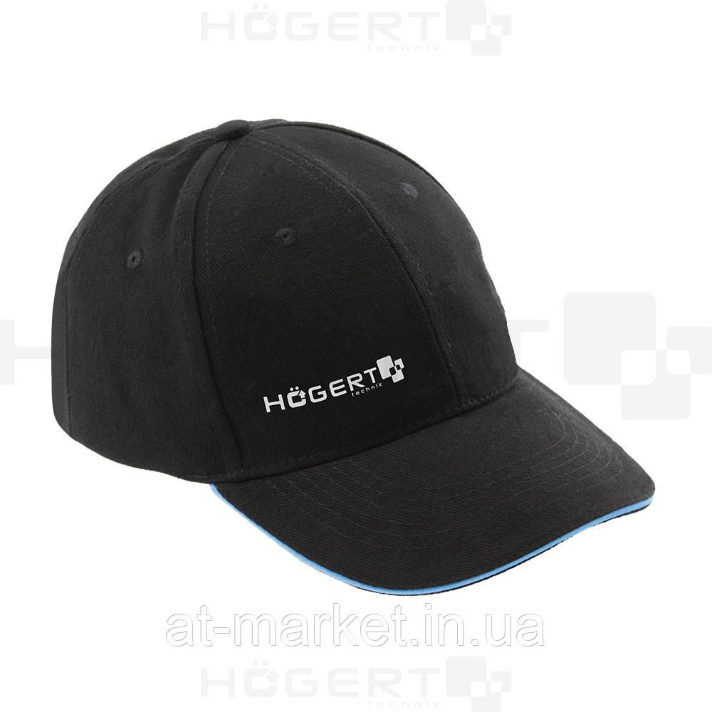 Бейсболка, хлопок, черная, универсальный размер (57-61 см) HT5K186