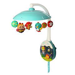 Детская Карусель-мобиль Hola 1105  р/у на кроватку подвесок 5шт с музыкой и светом