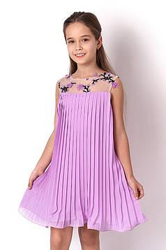 Платье на девочку Плиссе сиреневое