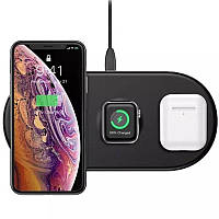 Беспроводное ЗУ Baseus Smart 3in1 (WX3IN1-B01) 18W Black (iPhone + Apple watch + Airpods)