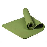 Каремат. Коврик гимнастический для йоги и фитнеса. CF88 183x61x0,6 см Туристический коврик  Зелёный