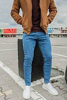 Молодежные узкие мужские джинсы
