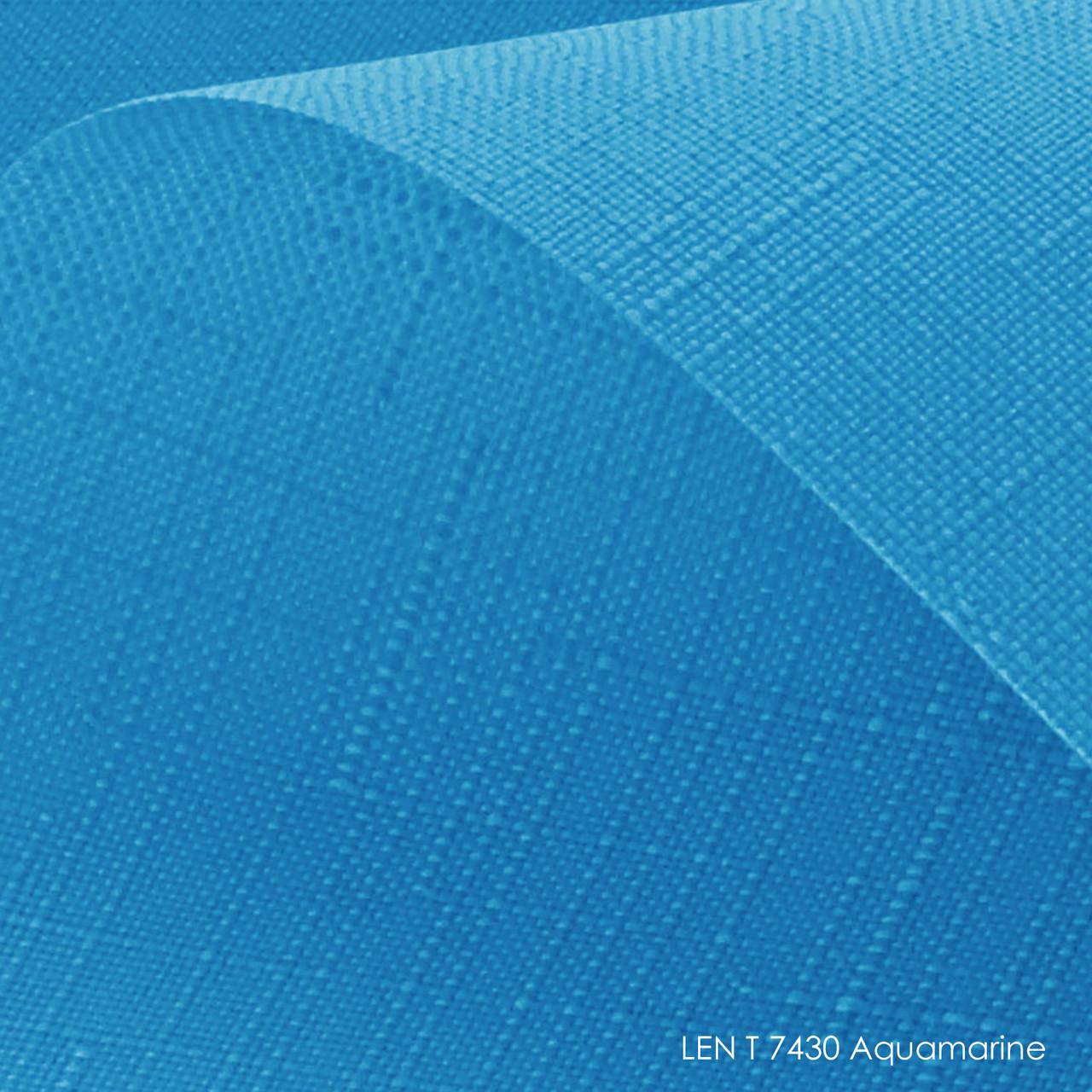 Тканинні ролети Len T-7430 aquamarine