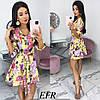 Модное платье женское на пуговицах (3 цвета) ЕФ/-542 - Желтый