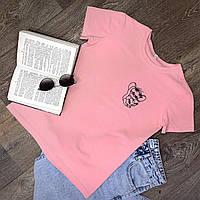 Футболка Женская хлопок розовая с принтом Jerry джерри мышка Mouse