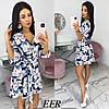 Модное платье женское на пуговицах (3 цвета) ЕФ/-542 - Синий