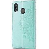 Кожаный чехол (книжка) Art Case с визитницей для Samsung Galaxy M20, фото 2