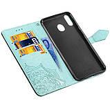 Кожаный чехол (книжка) Art Case с визитницей для Samsung Galaxy M20, фото 4