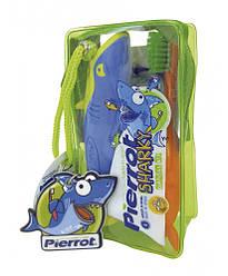 Набор детский Pierrot Kit dental infantil Sharky, зубная паста, зубная щетка, брелок Ref.335