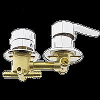 Змішувач душової кабіни (S-4 \ 10) на чотири положення з штуцерами і 10 см по центрам. (Оригінал)