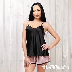 Жіночий комплект: маєчка та шортики New Fashion BR-140pudra