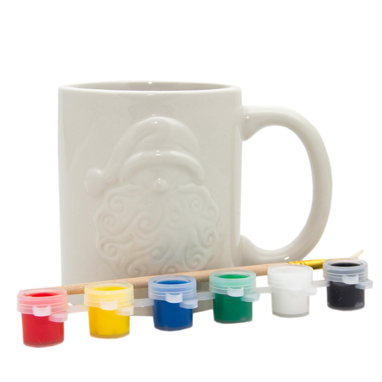 Набор для детского творчества - керамика, кружка Дед Мороз, 6 красок (022397-1)