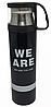 Термос вакуумний сталевий 500 мл з кухлем -«We are, I am, They one, Yours», фото 2