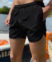 Пляжные шорты от Intruder   мужские шорты   шорты для плаванья  Цвет: чорный, фото 1