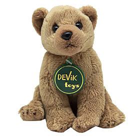 М'яка іграшка - бурий ведмедик, 15 см, бежевий, поліестер (JB-270BR)