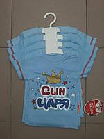 Футболка для малышей с прикольной надписью, Сын Царя! рост 62,68,74,80, фото 1