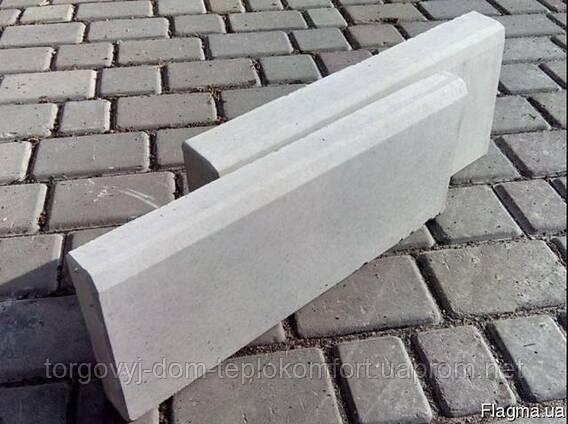 Поребрик «Садовый» - Жемчужина(белый) на белом цементе - 175 грн кв.м.