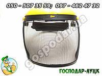 Защитный лицевой щиток для мотокосы, бензинового тримера. Щиток для защиты лица с сеткой