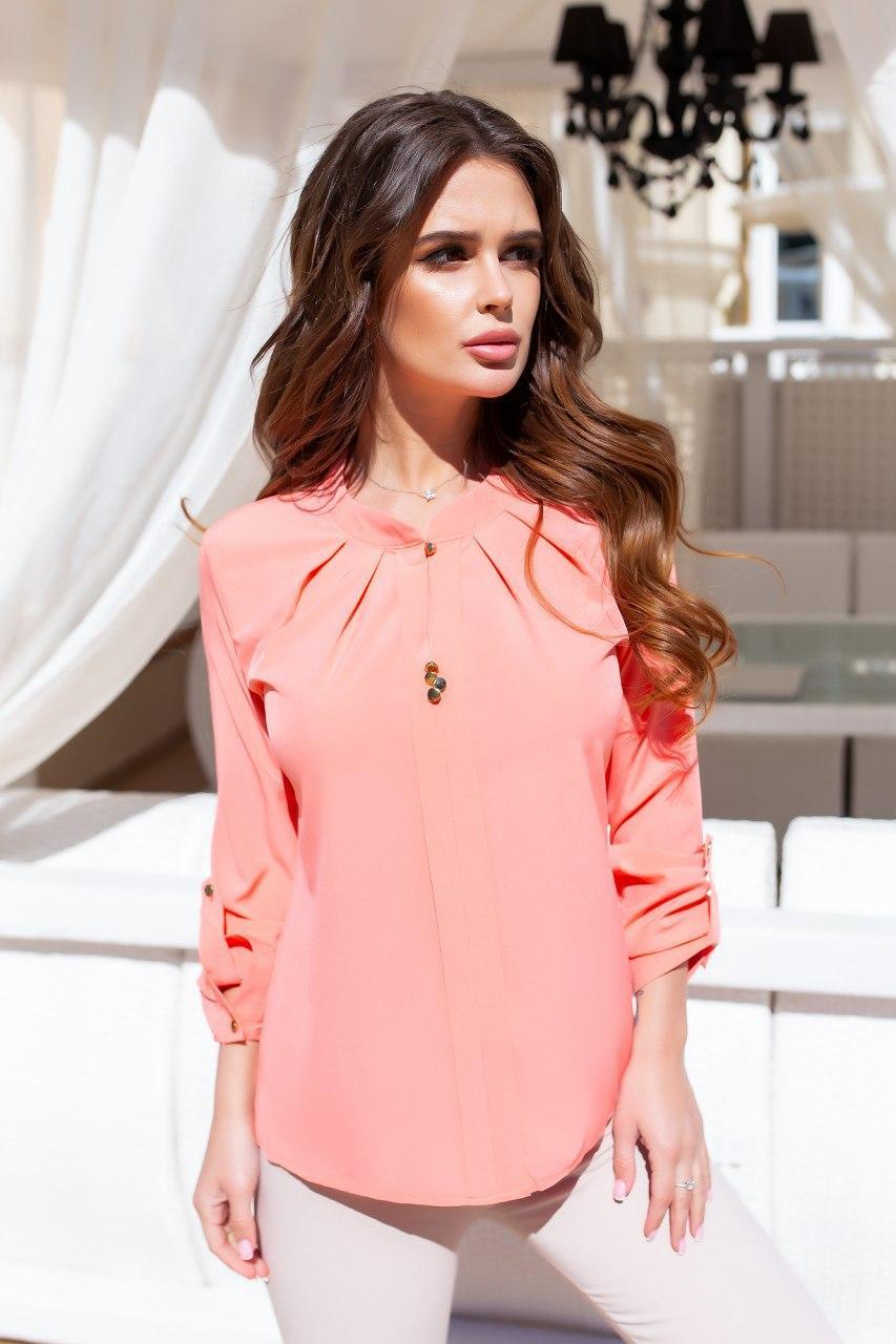 Блузка нарядная с длинным рукавом 42-50 (в расцветках)