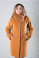 Зимнее пальто женское кашемировое с мехом 034/1, фото 1