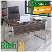 Металлическая мебель столы в стиле лофт Q-135 с царгой Орех Модена