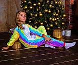 Теплая пижама Кигуруми Единорог Радужный Для взрослых и детей, фото 8