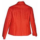 Червона стьобана куртка весна-осінь. Розміри 50-60, фото 2