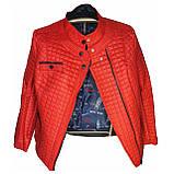 Червона стьобана куртка весна-осінь. Розміри 50-60, фото 3