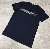 Мужская футболка Emporio Armani D9610 синяя