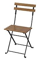 Садовый складной стул (уличный) из массива акации и стали